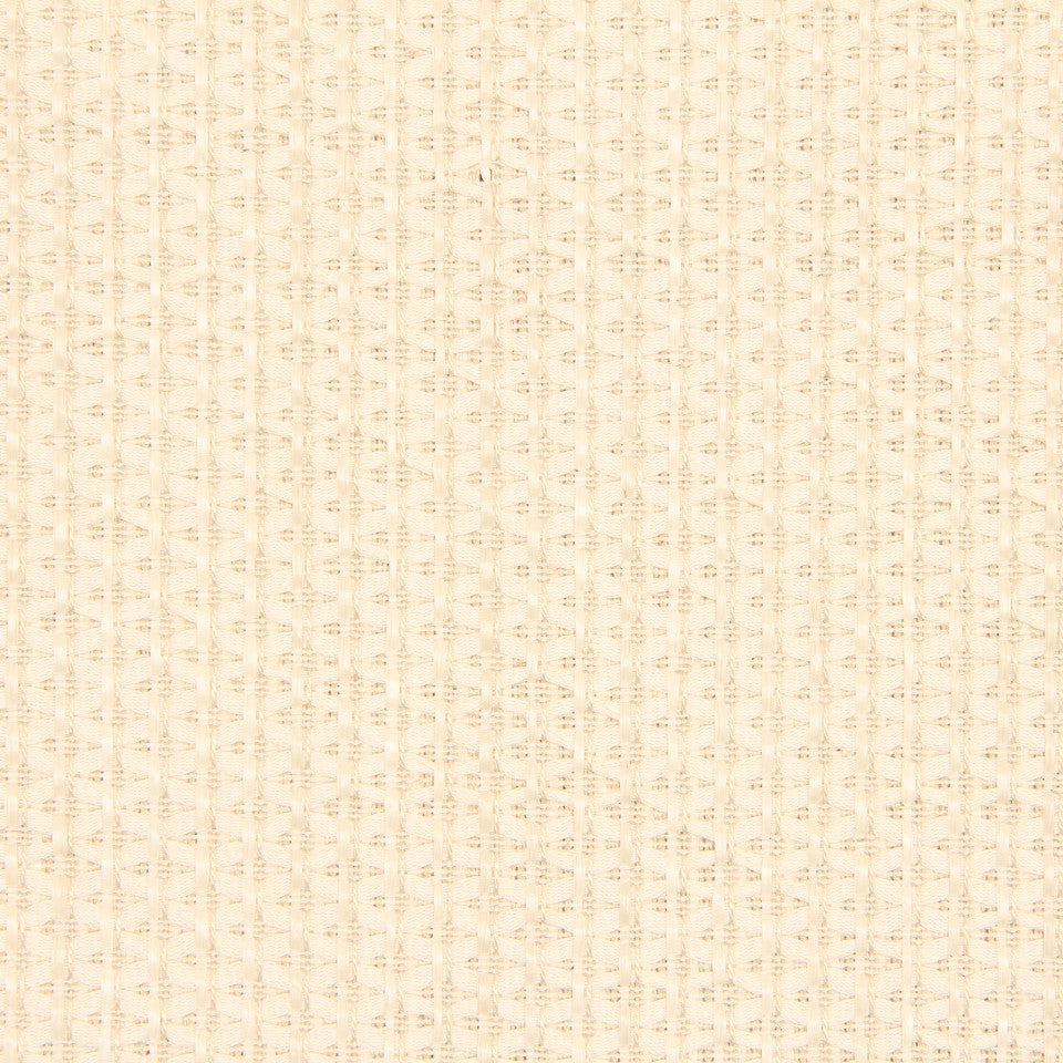 RUSTIC JUTE AND RAFFIA Diamond Raffia Fabric - Ivory