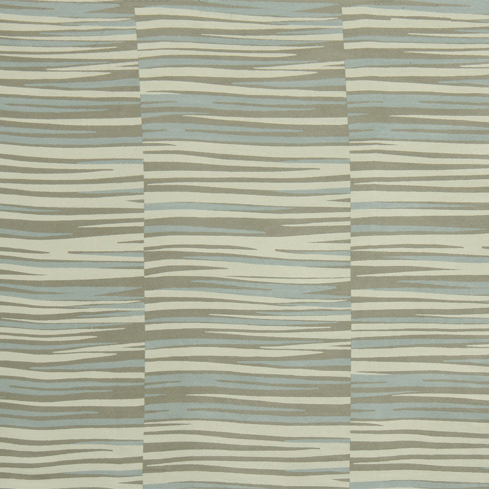RUSTIC STRIPES AND PLAIDS UPH Tangier Stripe Fabric - Ice