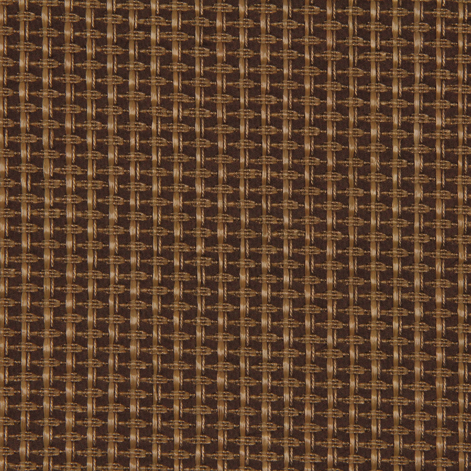 RUSTIC JUTE AND RAFFIA Diamond Raffia Fabric - Teak