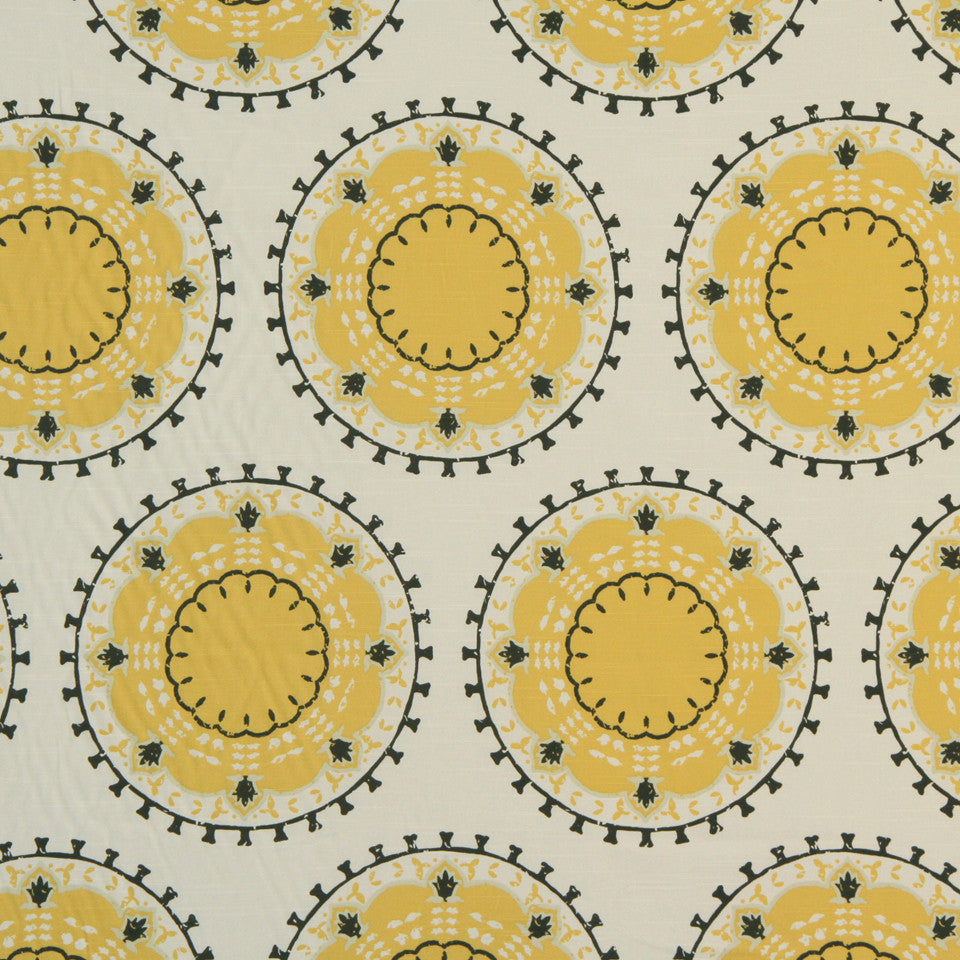 DWELLSTUDIO GLOBAL MODERN LUXE Medallion Band Fabric - Citrine