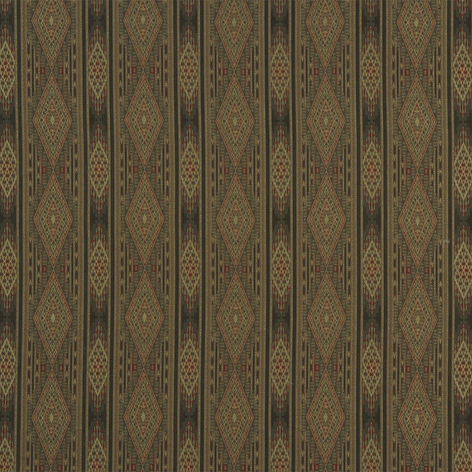 RUSTIC STRIPES AND PLAIDS MP Arrow Stripe Fabric - Spice