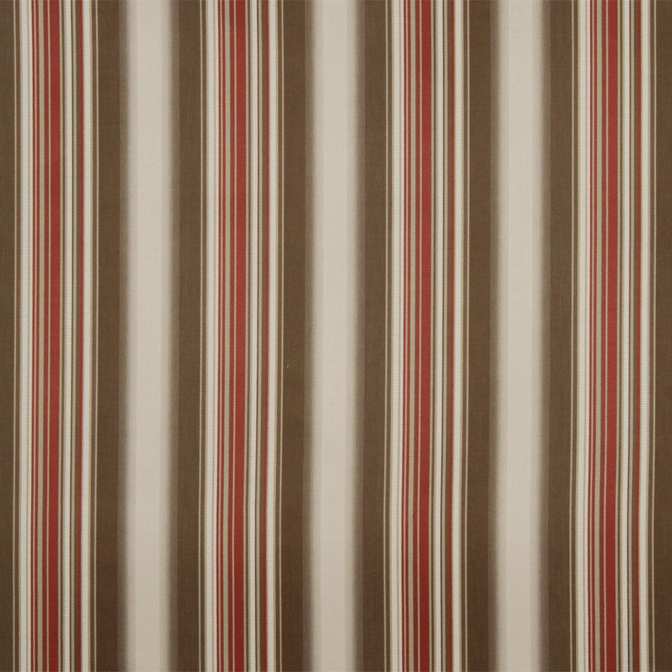 RUSTIC STRIPES AND PLAIDS MP Helena Stripe Fabric - Clay Linen