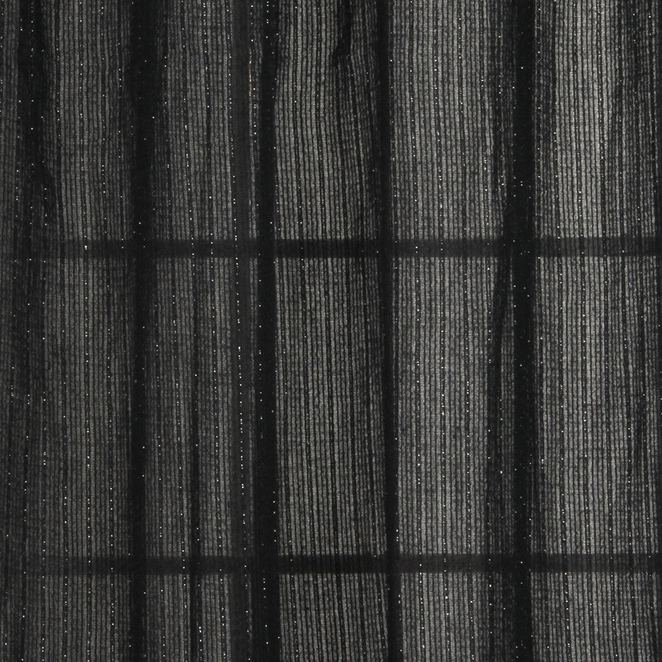 NATURAL SHEERS DARK NEUTRALS Shimmer Stitch Fabric - Shadow