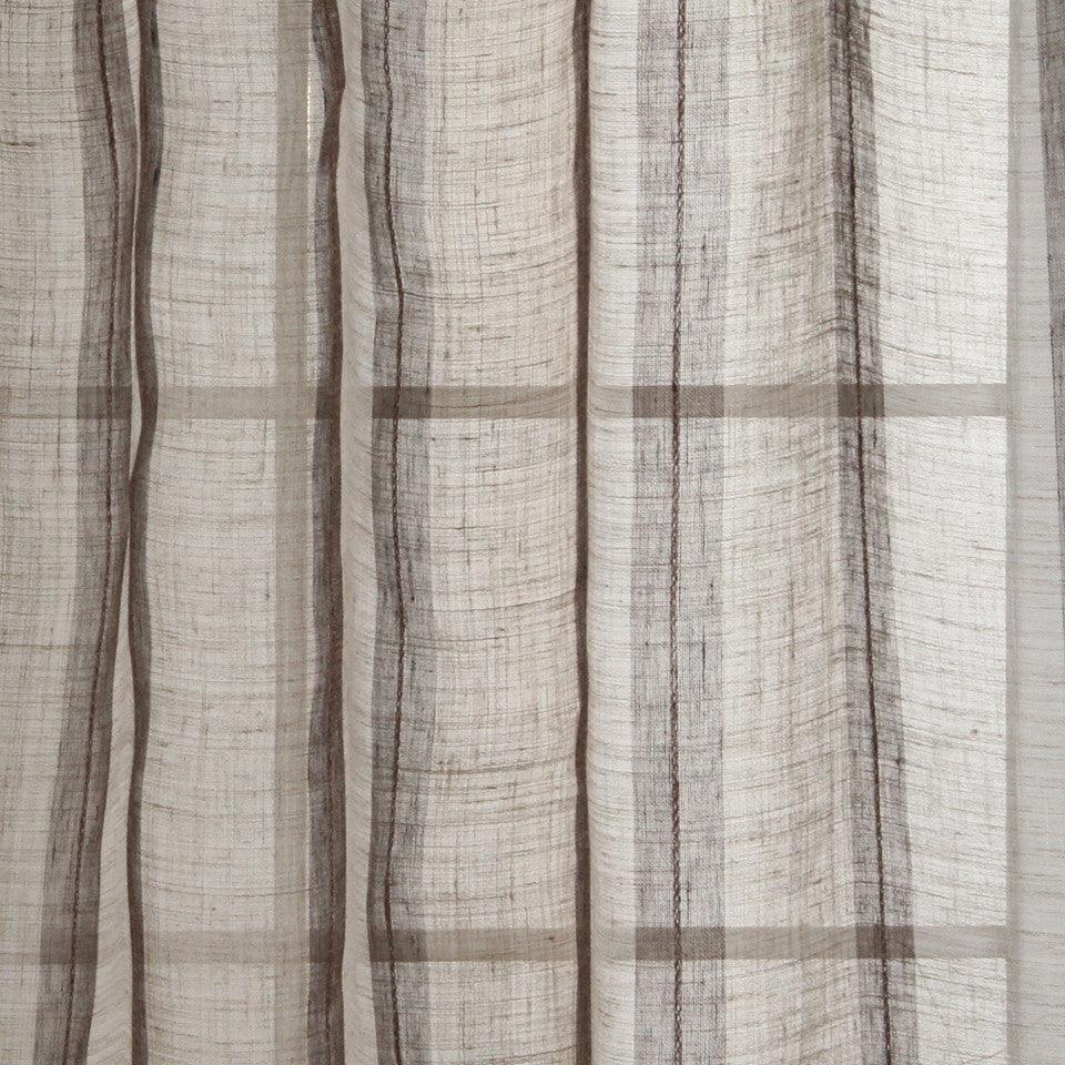 NATURAL SHEERS DARK NEUTRALS Middle Road Fabric - Camel