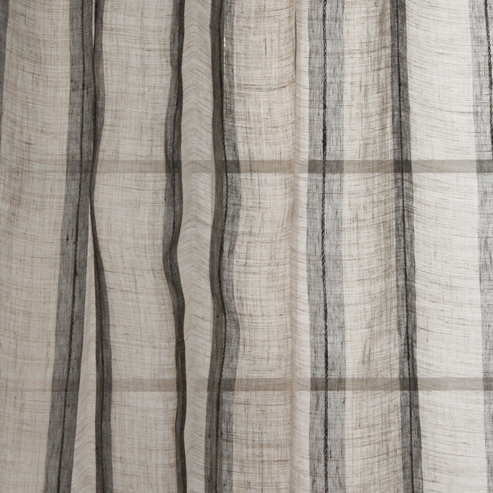 NATURAL SHEERS DARK NEUTRALS Middle Road Fabric - Bistre