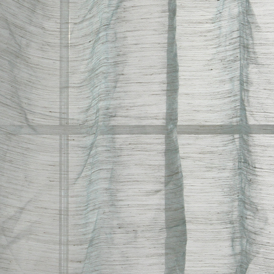 NATURAL SHEERS LIGHT NEUTRALS Morning Sky Fabric - Aqua