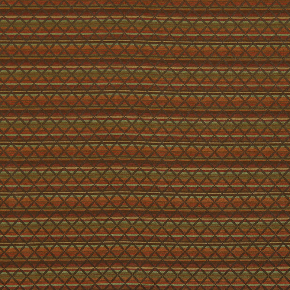 CRYPTON TRANSITIONAL Cross Stripe Fabric - Teak