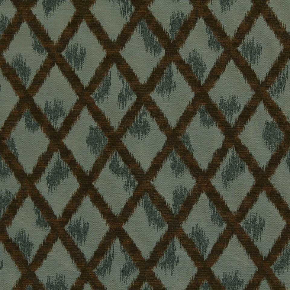 CRYPTON TRANSITIONAL Ikat Cross Fabric - Chambray