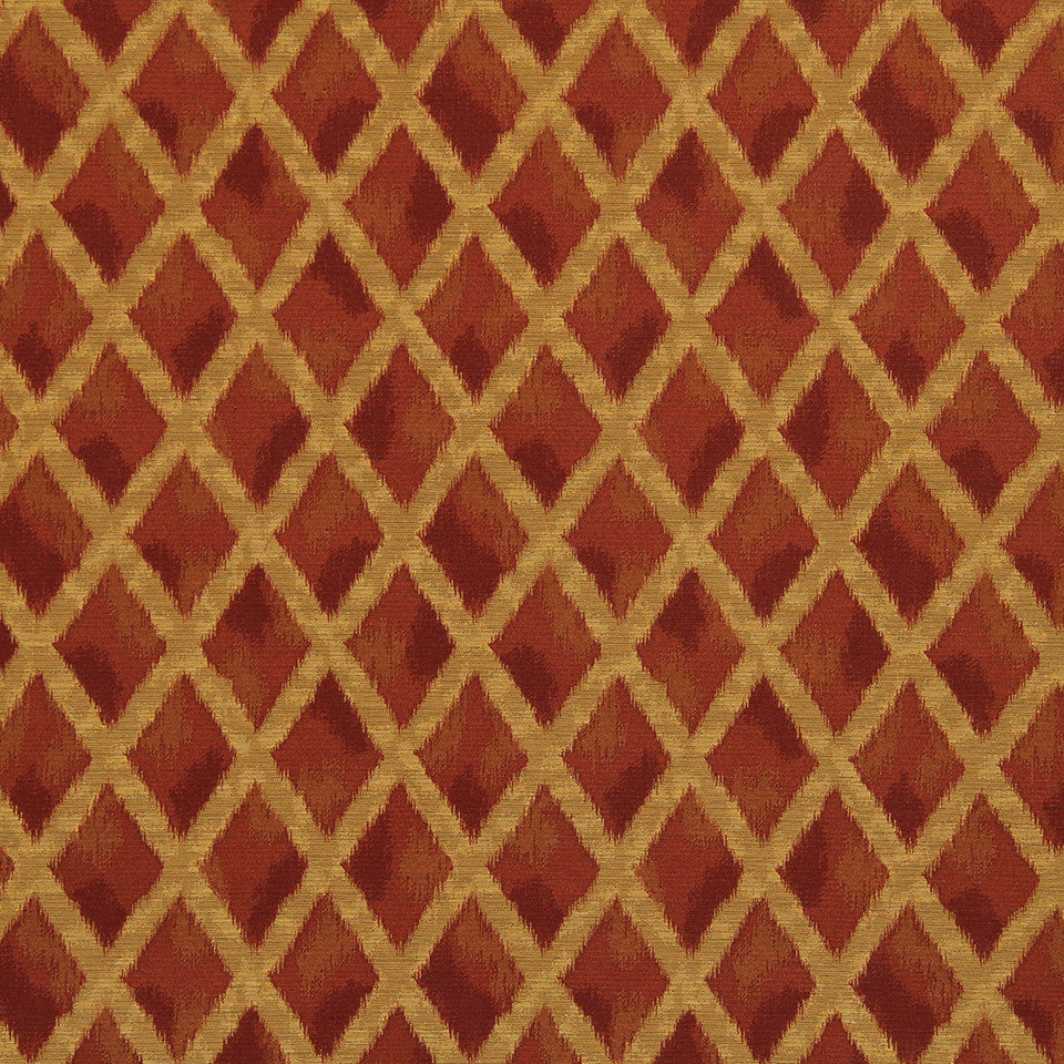 CRYPTON TRANSITIONAL Ikat Cross Fabric - Pomegranate