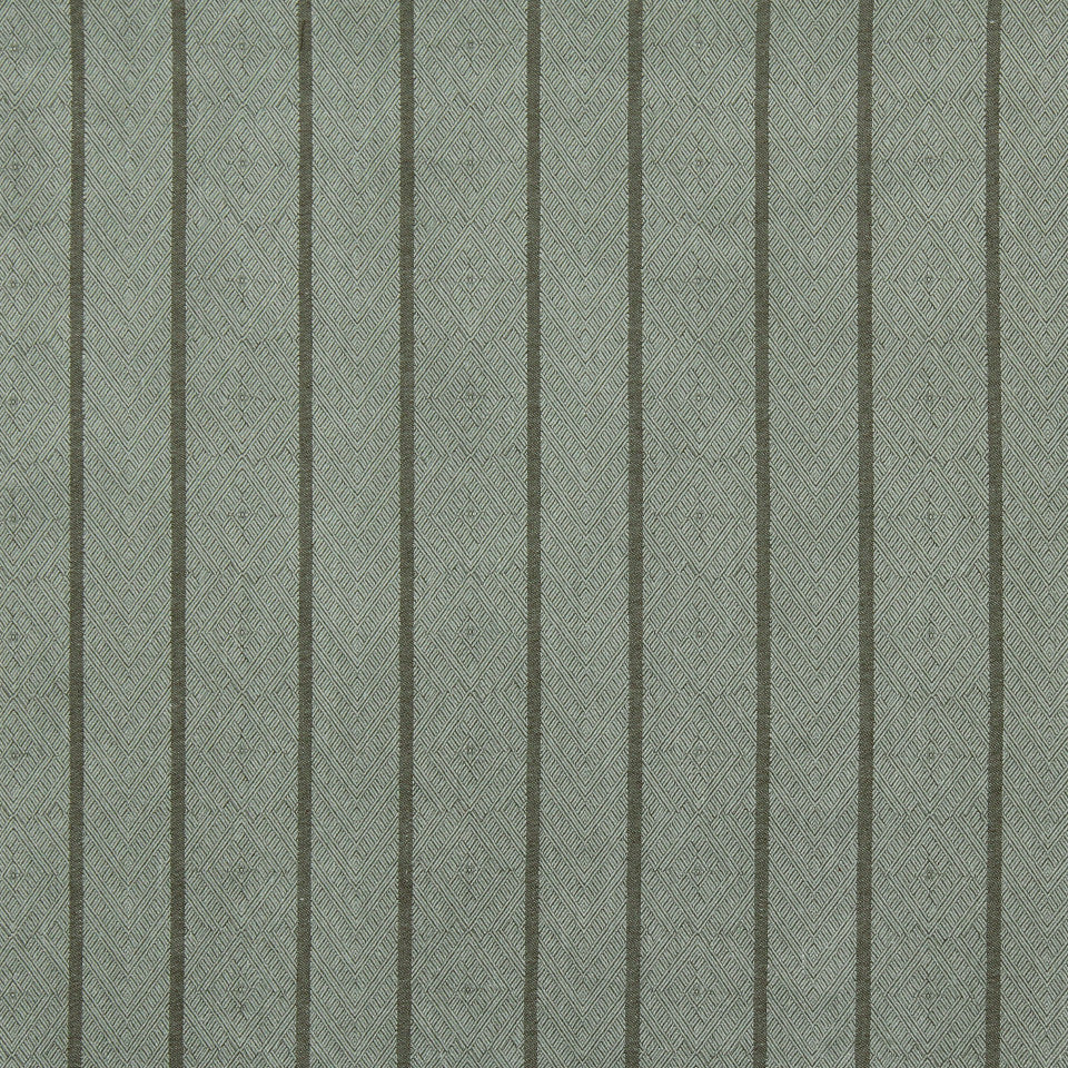 RUSTIC STRIPES AND PLAIDS UPH Dauphin Stripe Fabric - Lake