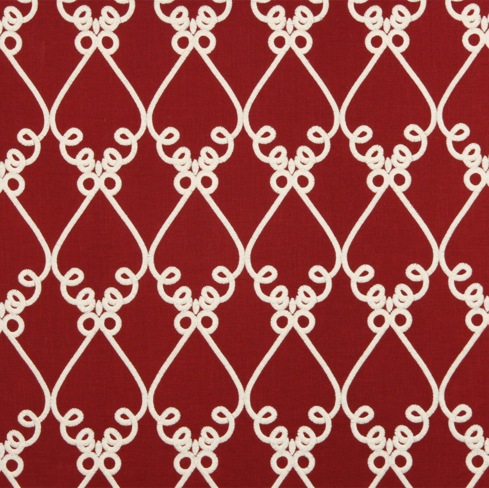WILLIAMSBURG CLASSICS COLLECTION I Bold Sconce Fabric - Poppy