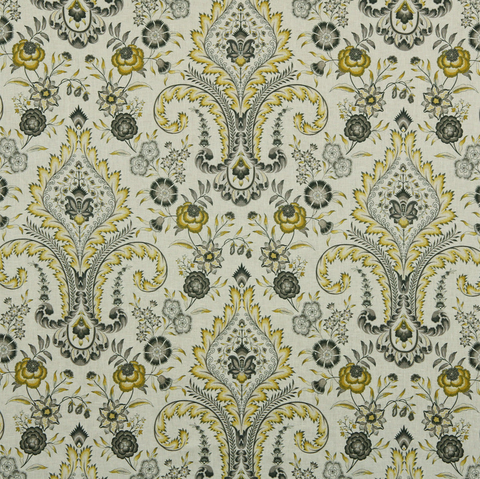 WILLIAMSBURG CLASSICS COLLECTION I Floral Inset Fabric - Lemongrass