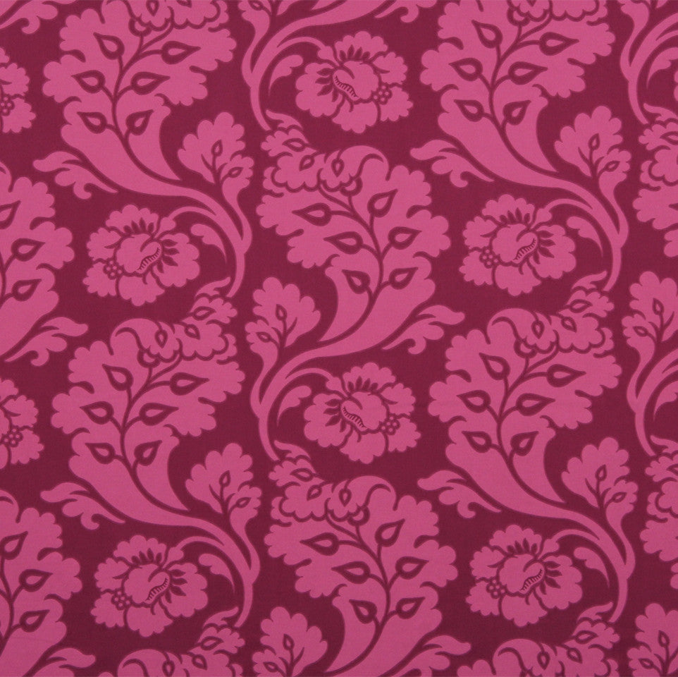 MANGO-PEONY-WATERMELON Shadow Vines Fabric - Berry