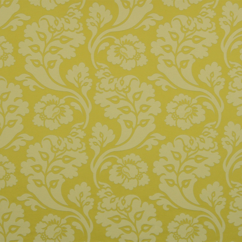 KIWI-ARTICHOKE-ZEST Shadow Vines Fabric - Jonquil
