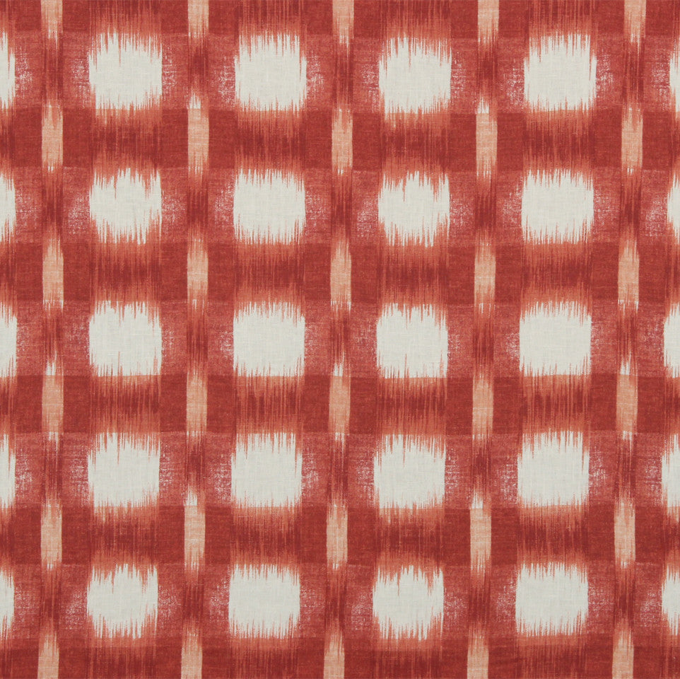 WILLIAMSBURG CLASSICS COLLECTION I Plaid Ikat Fabric - Cherry