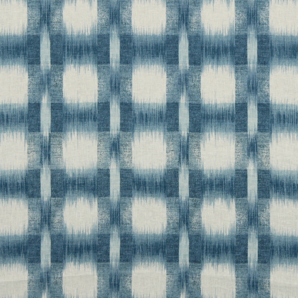 WILLIAMSBURG CLASSICS COLLECTION I Plaid Ikat Fabric - Lapis