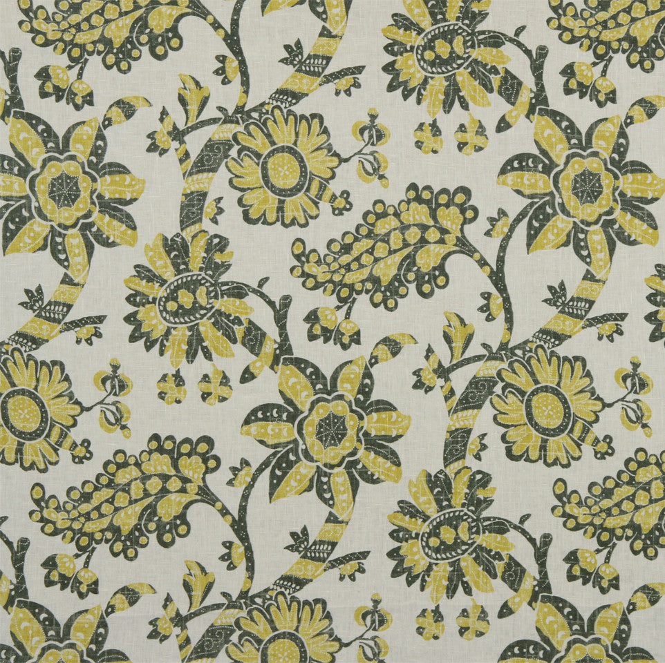 WILLIAMSBURG CLASSICS COLLECTION I Unique Floral Fabric - Buckwheat