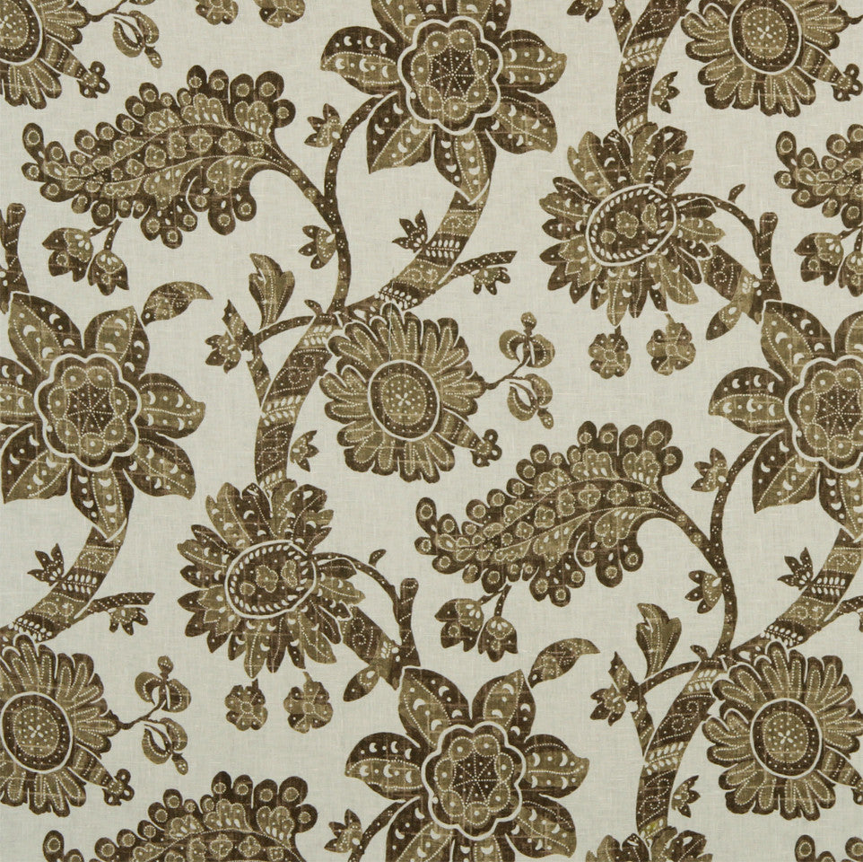 WILLIAMSBURG CLASSICS COLLECTION I Unique Floral Fabric - Bark