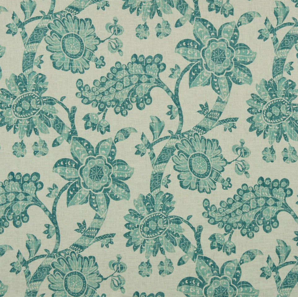 WILLIAMSBURG CLASSICS COLLECTION I Unique Floral Fabric - Beachglass