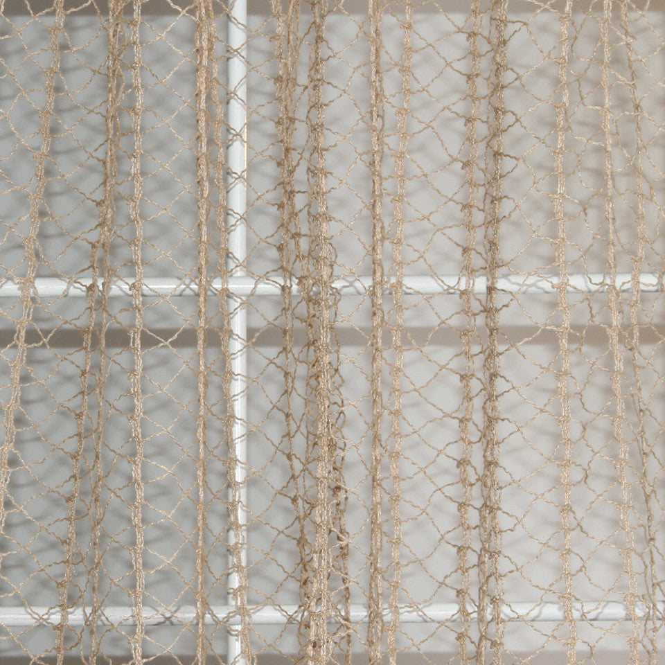 NATURAL SHEERS LIGHT NEUTRALS Creative Net Fabric - Straw