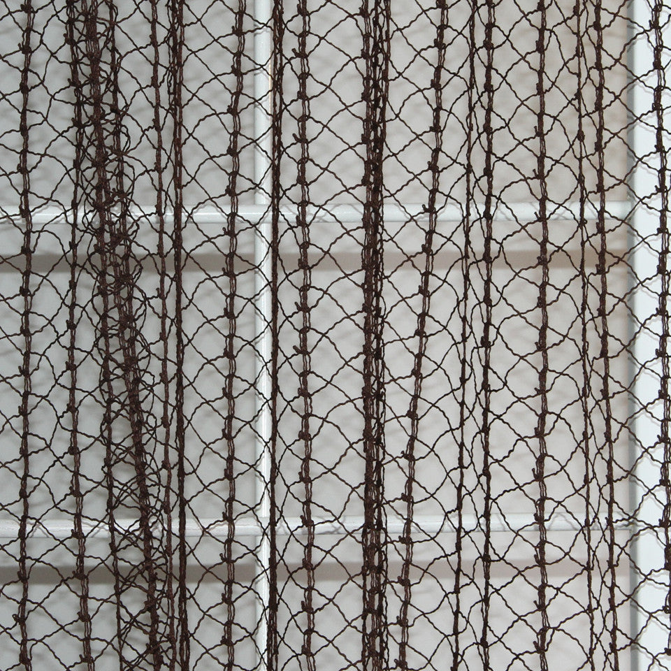 NATURAL SHEERS DARK NEUTRALS Creative Net Fabric - Chocolate