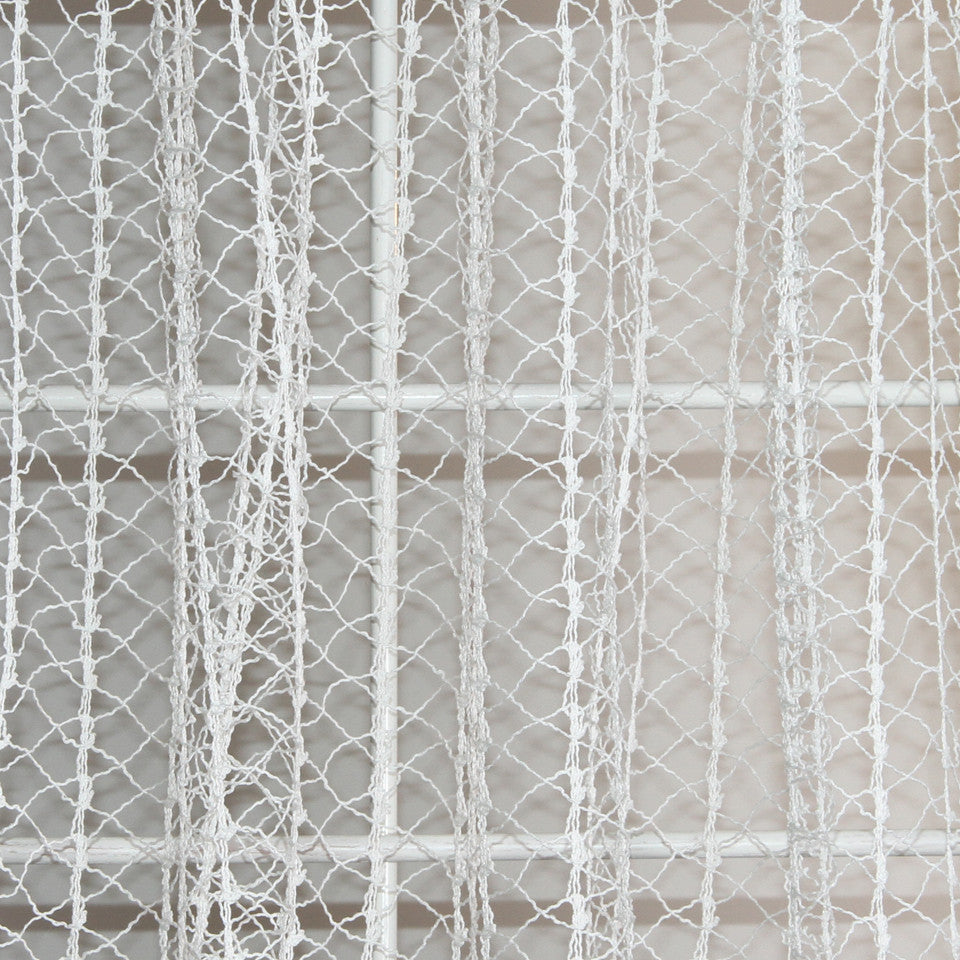NATURAL SHEERS LIGHT NEUTRALS Creative Net Fabric - White