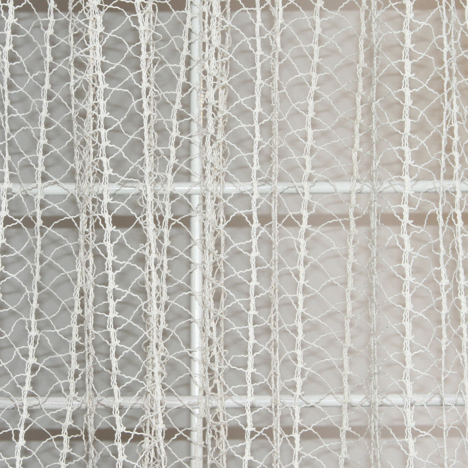 NATURAL SHEERS LIGHT NEUTRALS Creative Net Fabric - Cloud