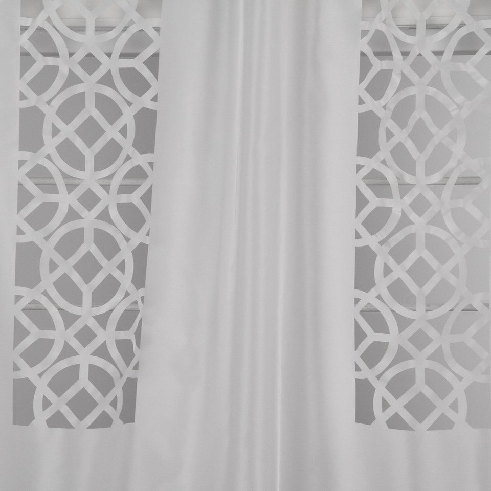 DWELLSTUDIO MODERN LUXURY Laser Lattice Fabric - Blanc