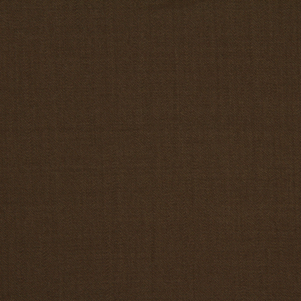 LINEN, WOOL AND CASHMERE SOLIDS Wool Sateen Fabric - Bark