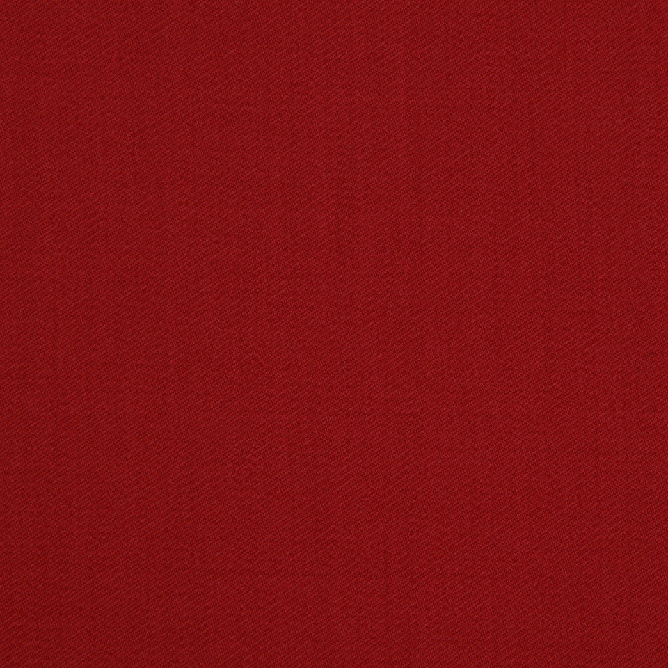 LINEN, WOOL AND CASHMERE SOLIDS Wool Sateen Fabric - Red Apple
