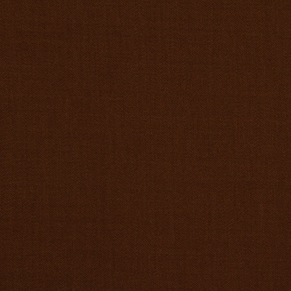 LINEN, WOOL AND CASHMERE SOLIDS Wool Sateen Fabric - Teak