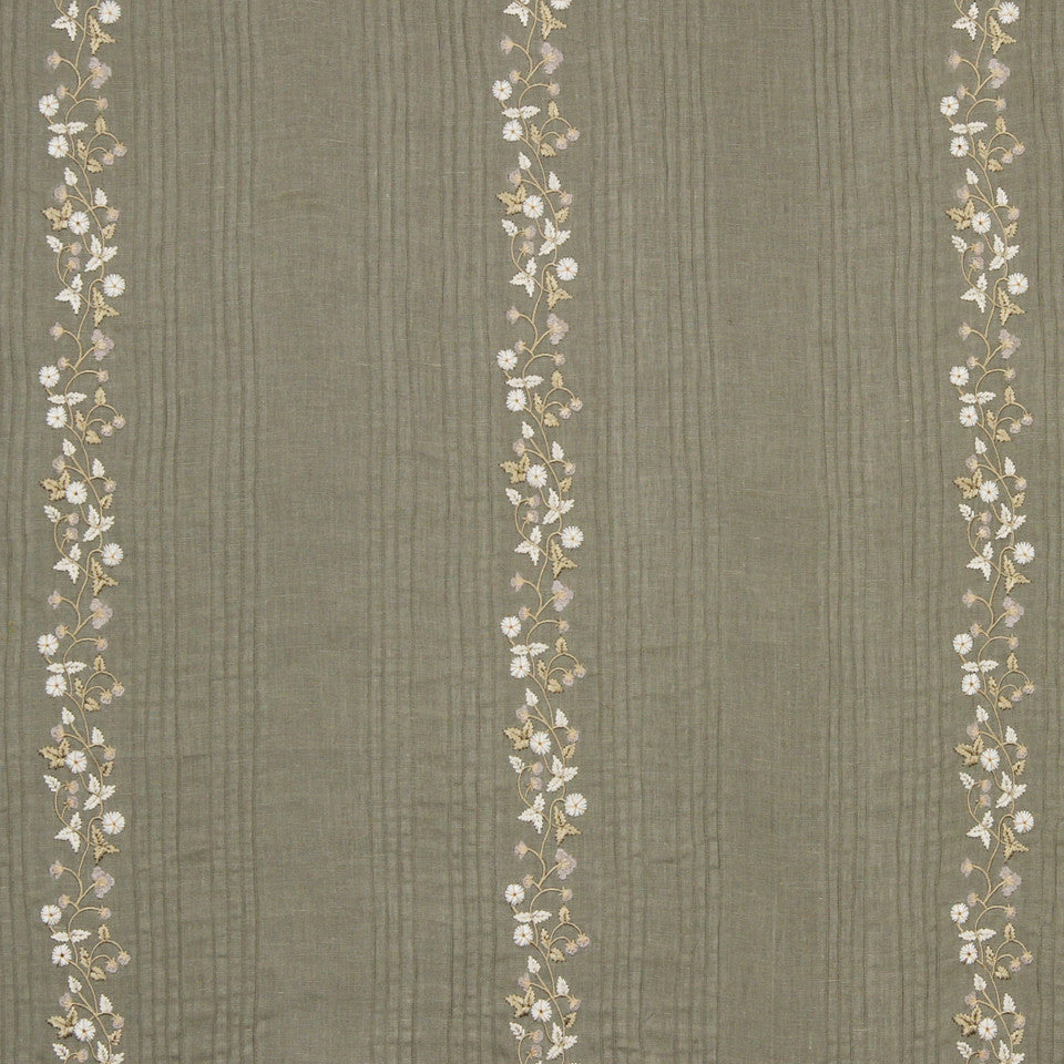 GRAIN-COBBLESTONE-SEA Fresh Flowers Fabric - Cobblestone