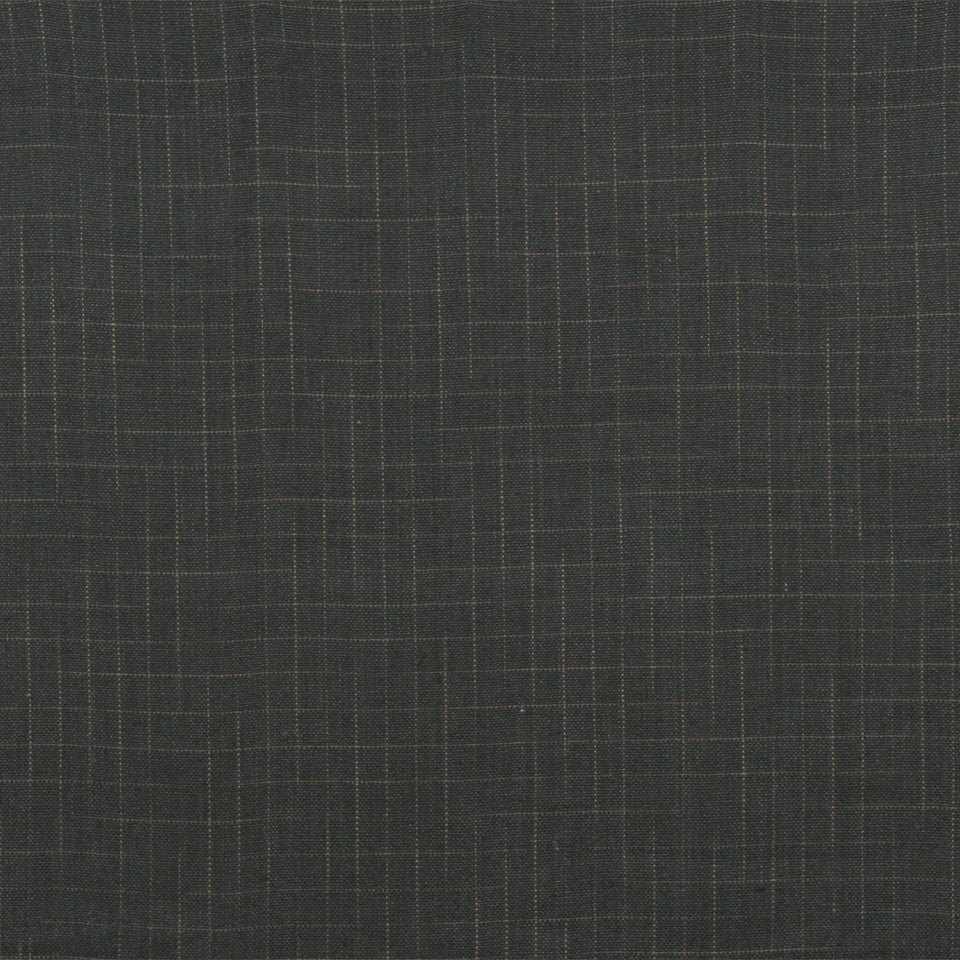 RUSTIC STRIPES AND PLAIDS UPH Bennett Plaid Fabric - Slate Gray