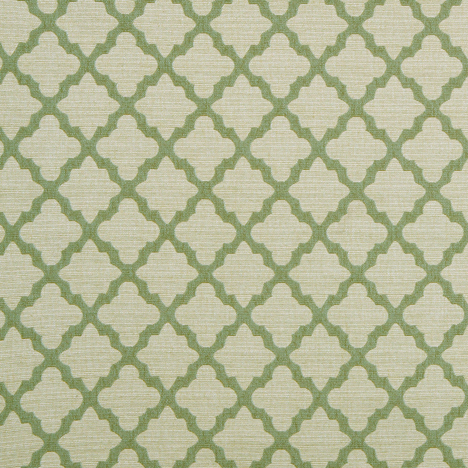 DWELLSTUDIO GLOBAL MODERN LUXE Casablanca Geo Fabric - Aquamarine