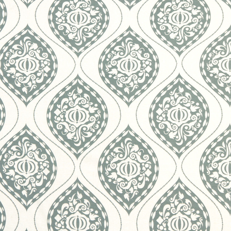 DWELLSTUDIO GLOBAL MODERN LUXE Ogee Fabric - Aquamarine