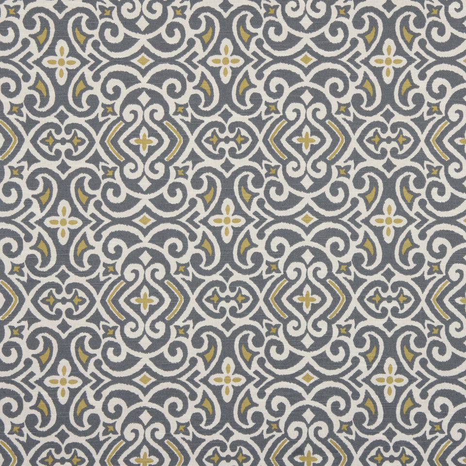 GRAPHITE-NIGHT SKY-GREYSTONE New Damask Fabric - Greystone