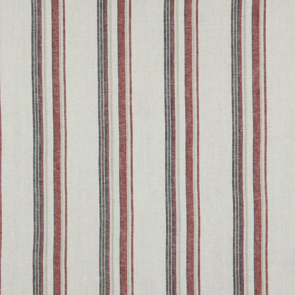 LINEN STRIPES & PLAIDS Abigail Stripe Fabric - Berry