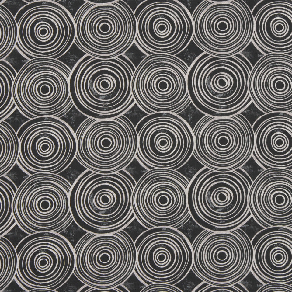GRAPHITE-NIGHT SKY-GREYSTONE Whimsy Circles Fabric - Kohl
