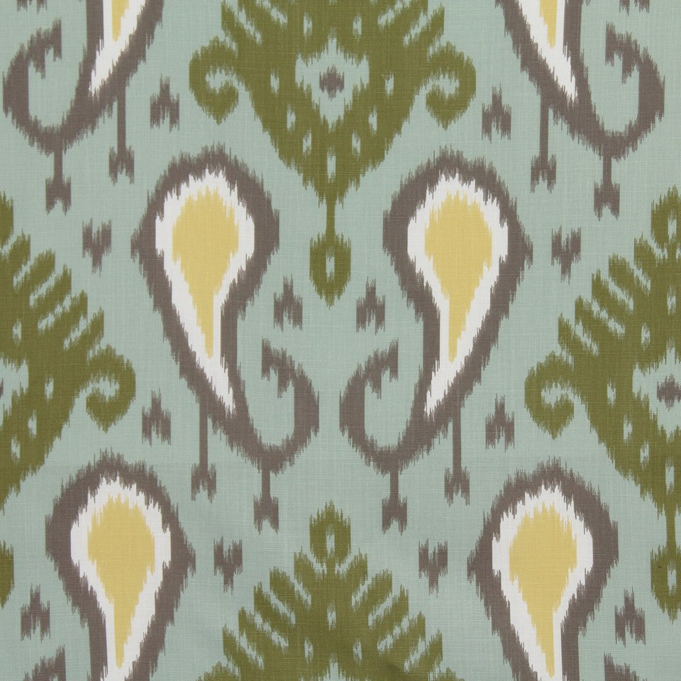 DWELLSTUDIO GLOBAL MODERN LUXE Batavia Ikat Fabric - Aquamarine