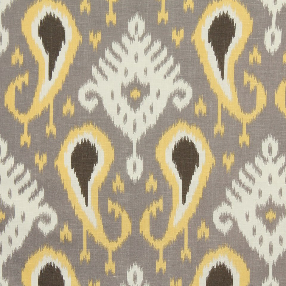 DWELLSTUDIO GLOBAL MODERN LUXE Batavia Ikat Fabric - Citrine