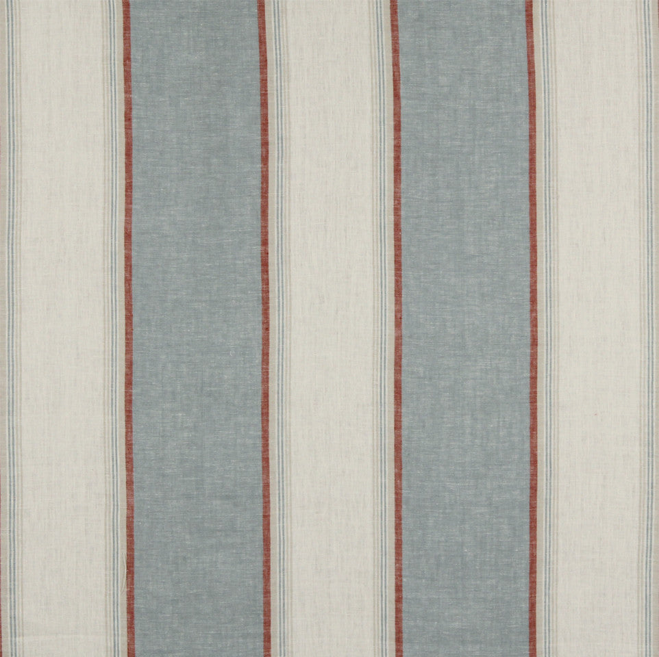 LINEN STRIPES & PLAIDS Vintage Stripe Fabric - Chambray
