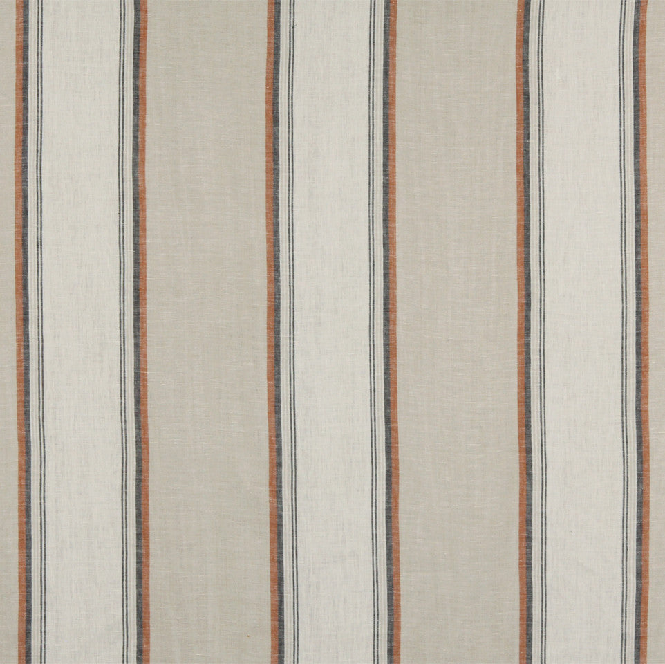 LINEN STRIPES & PLAIDS Vintage Stripe Fabric - Sandalwood