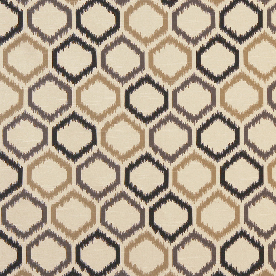 DWELLSTUDIO GLOBAL MODERN LUXE Ikat Trellis Fabric - Toffee