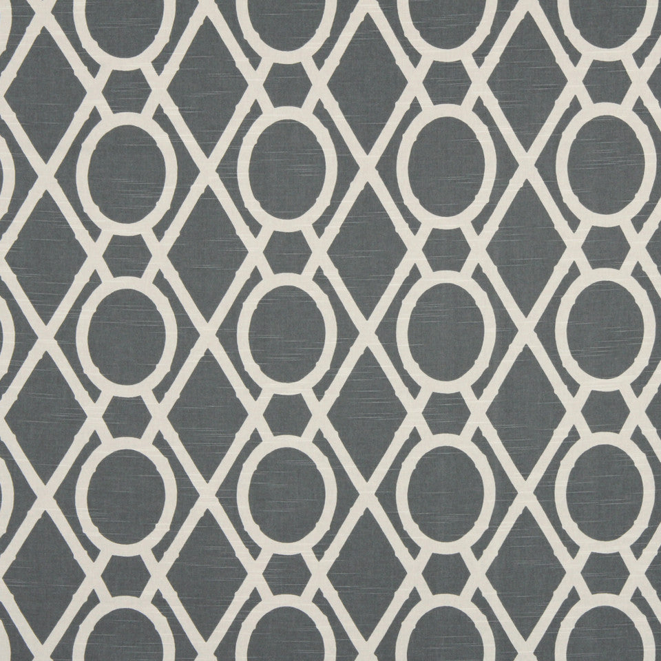 GRAPHITE-NIGHT SKY-GREYSTONE Lattice Bamboo Fabric - Greystone