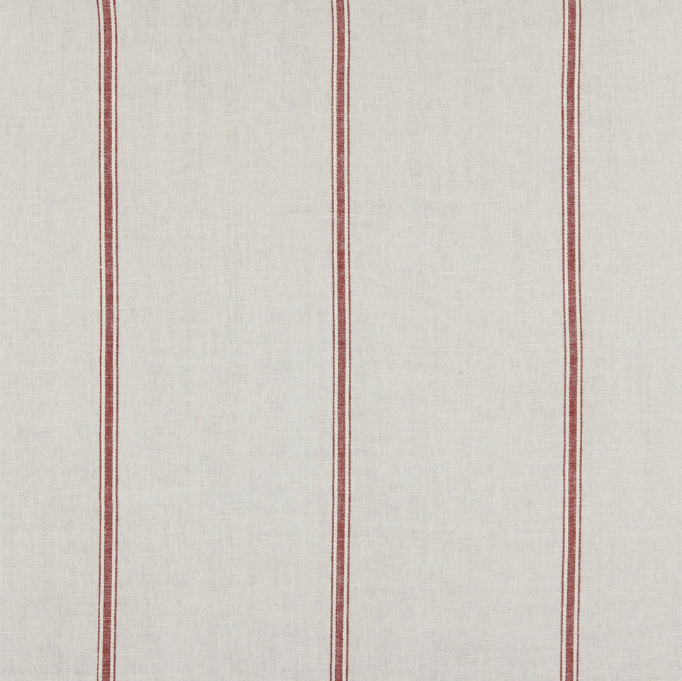 LINEN STRIPES & PLAIDS Stripe Within Fabric - Poppy