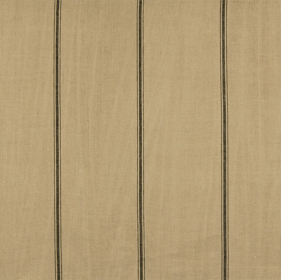LINEN STRIPES & PLAIDS Stripe Within Fabric - Caramel