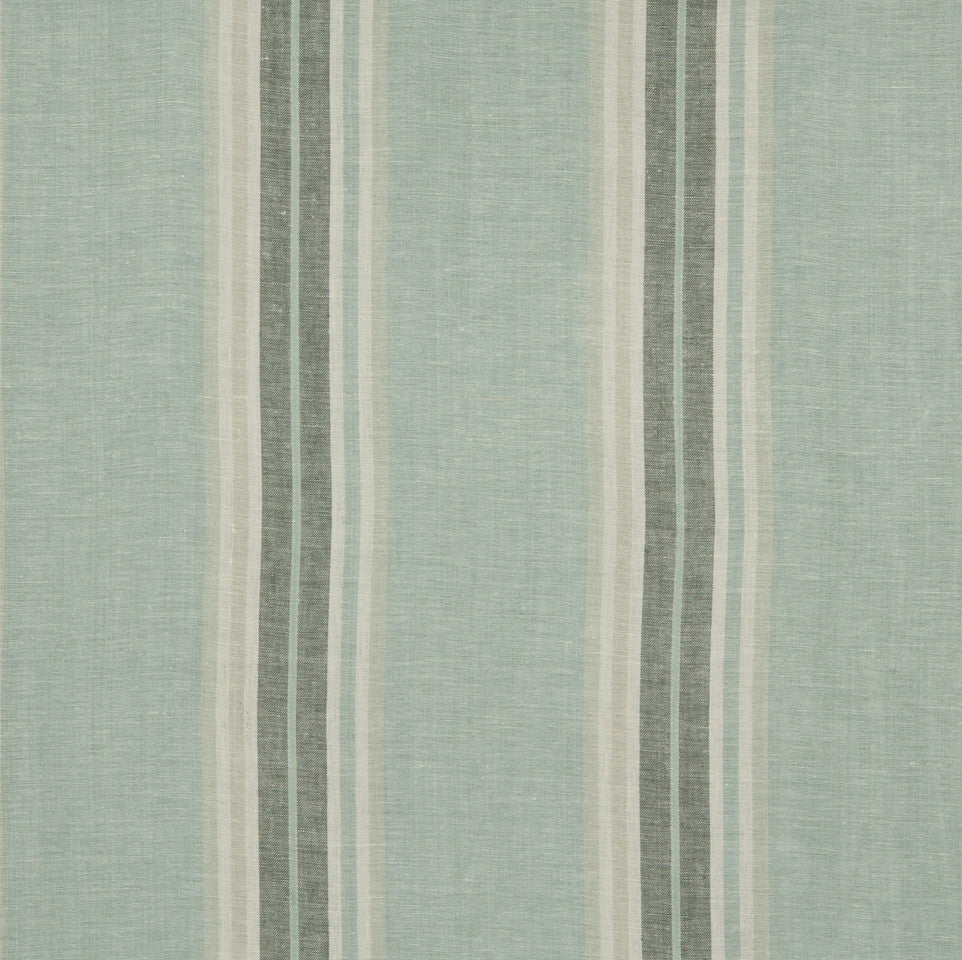 LINEN STRIPES & PLAIDS Josie Stripe Fabric - Aquatic