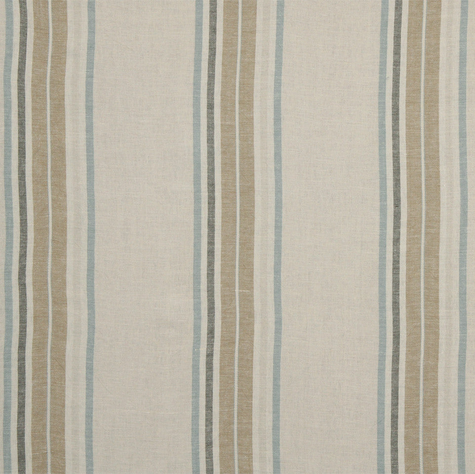 LINEN STRIPES & PLAIDS Josie Stripe Fabric - Mineral