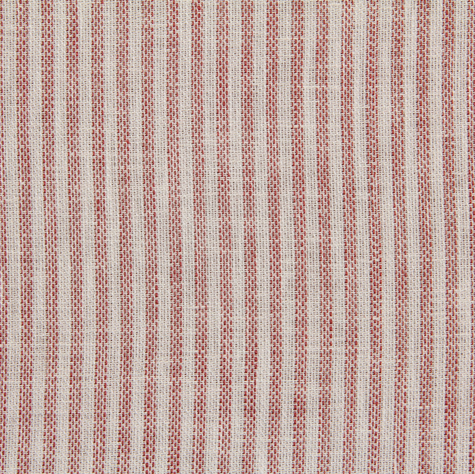 LINEN STRIPES & PLAIDS Treads Fabric - Cherry