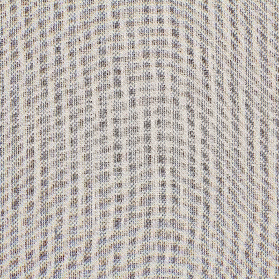 LINEN STRIPES & PLAIDS Treads Fabric - Pool
